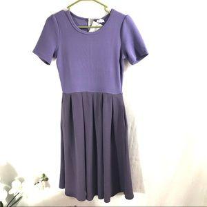 LuLaRoe Amelia Dress Size Small Purple